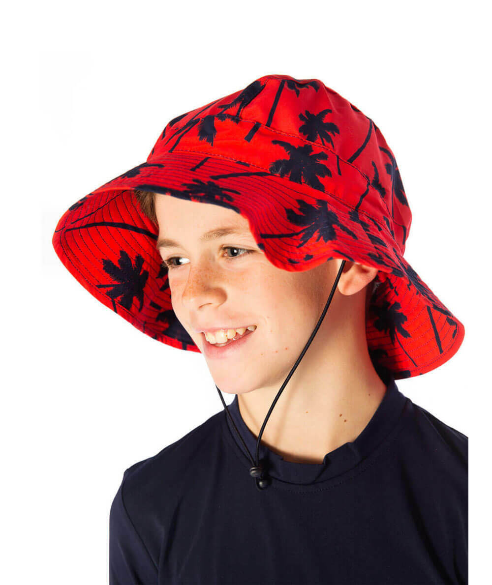 Red Palm Hat