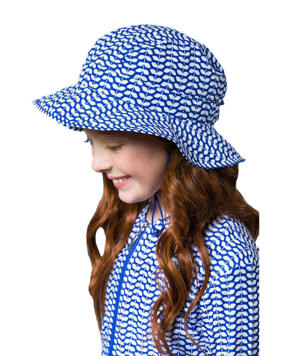 Blue Leaf Hat