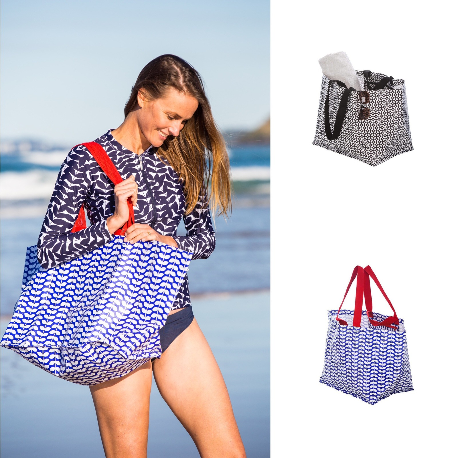 Blue Acacia Long Sleeve and Beach Bag Bundle