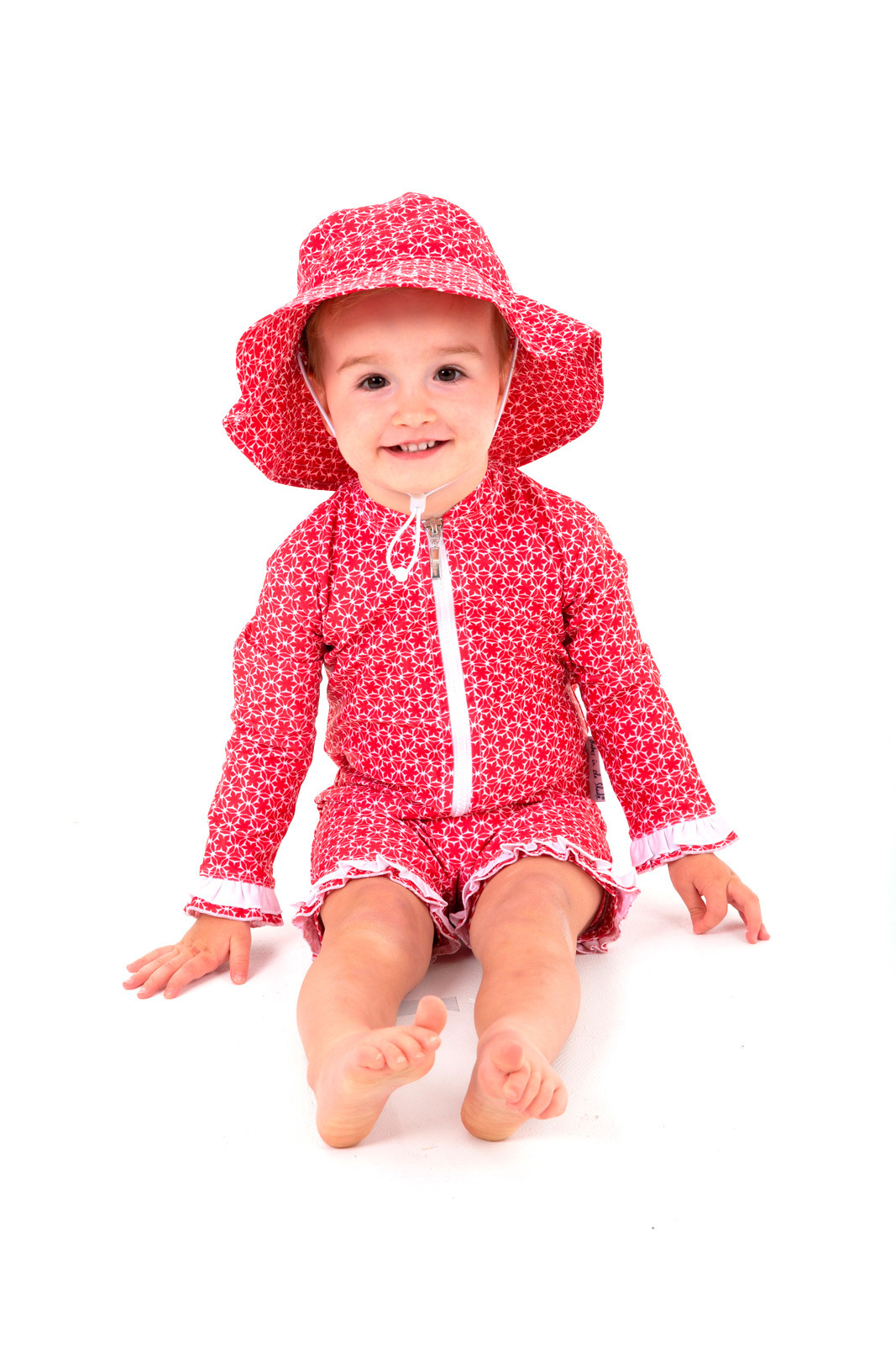 Red Pinwheel UV Suit and Hat Bundle