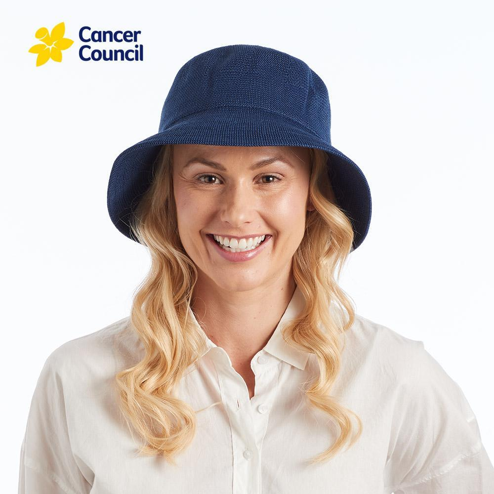 Ladies Navy Tamzin Hat (Cancer Council)