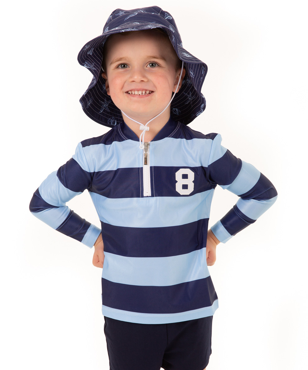 Rugger Blue Long Sleeve Rashie
